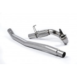 "Milltek SSXVW348 Golf MK7 R Variant 3"" De Cat Downpipe & Pipe Exhaust Fits To OE"