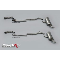 Milltek 'Race' Turbo-back Full System Options - Audi TT Mk2 TT RS 2.5-litre TFSI