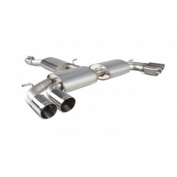 Resonated Cat-Back System with No Valves S3 2.0T 8V (3 Door & Sportback)