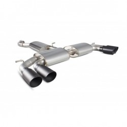 Scorpion Resonated Cat-Back System with No Valves S3 2.0T 8V (3 Door & Sportback)
